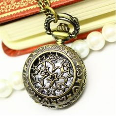 Retro Style Pocket Watch Necklace Starry Sky | Giftzoo.ca Canada's Online Gift Shop
