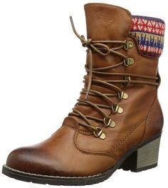 2017 Neuer Eintrag Tamaris BLACK PATENT Woms Boots Leder