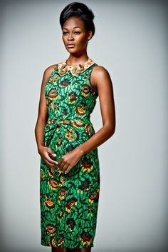 Nice simple African print dress