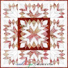 Inklingo Cleopatra's Fan quilt