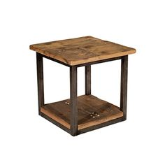 Salvaged Wood End Table at HudsonGoods.com