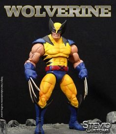 Wolverine (Marvel Legends) Custom Action Figure by Stevid Base figure: MU HULK and Toybiz series 3 Wolverine