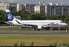 SkyWest (Alaska Airlines) Embraer 175LR (ERJ-170-200LR) at SJU (San Juan PR)