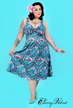 Melody Dress - Blue Floral - Only one left (size M)