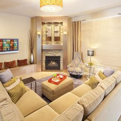 Living Room Layout On Pinterest Corner Fireplaces