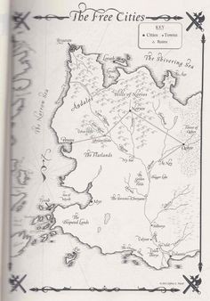 "Mapas de ""A Dance With Dragons"" - El Lejano Poniente"