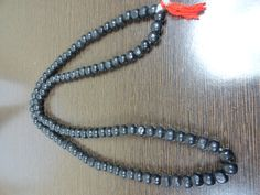 Black Round Wooden Beads 108 beads Necklace 5 by beadsincredible, $3.99