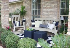 Narrow front porch furniture