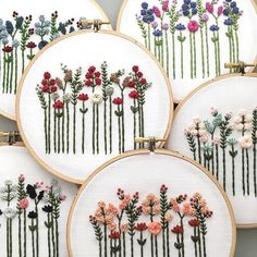 A sea of flowers. Which one is your favorite?  Embroidery #EmbroideryArt