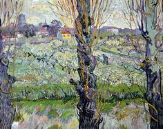Vincent van Gogh View of Arles, Flowering Orchards 1889