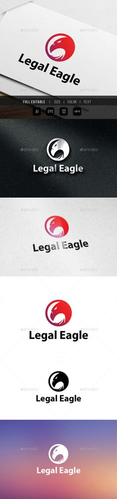 Legal Eagle Logo — Vector EPS #silhouette #law • Available here → https://graphicriver.net/item/legal-eagle-logo/9826492?ref=pxcr