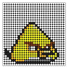 yellow angry bird perler bead pattern