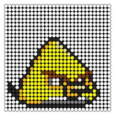 yellow angry bird perler bead pattern