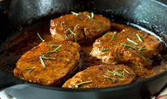 Côtelettes de PORC dans sa sauce CIDRE et Dijon... Raffiné, mais simple comme tout!!!