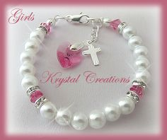 Personalised Accessories Gifts Online - Baptism Christening bracelet - GIRL