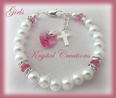 baptism favors | Baptism Christening bracelet - GIRL