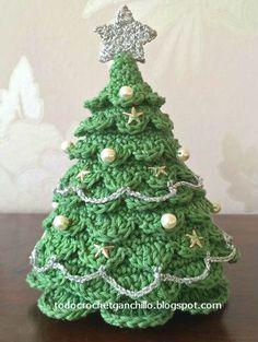 Arbol de navidad tejido con crochet