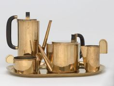 Harvard Publishes Massive, Free Bauhaus Archive Online! (Pictured: Wilhelm Wagenfeld, Coffee and Tea Service: 5-Piece Set, Harvard Art Museums/Busch-Reisinger Museum, Gift of Hanna Lindemann, 1924-1925) - Core77