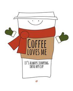 LostBumblebee 2013 Free Printable Coffee LOVES ME!
