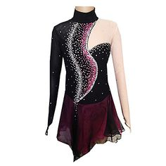 Girl's+Black+and+Purple+Spandex+Figure+Skating+Dress(Assorted+Size)+–+USD+$+149.99
