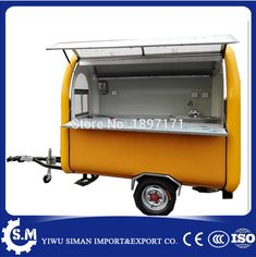 Mobile Heavy Duty Catering Trailer Cart Food Service Vending Food Concesion Food Cart Indoor Outdoor Kiosk Buffet
