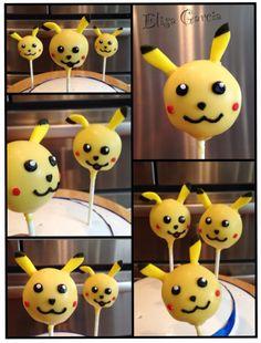 I choose you Pikachu!!! Pokemon Cake pops..too cute!!