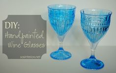 Good how-to on painting glass for decorative use only.  Handpainted Glass Using DecoArt.  Found on http://www.sasinteriors.net/2012/08/2-easy-diy-ideas-for-handpainted-glass/