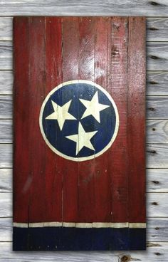 Rustic Tennessee State Flag Pallet by RaeRoyDesigns on Etsy, $100.00