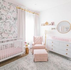 Baby Room Design, Nursery Design, Baby Room Decor, Girls Room Design, Baby Boy Rooms, Baby Nursery Ideas For Girl, Vintage Nursery Girl, Nursery Room Ideas, Baby Girl Nursery Decor