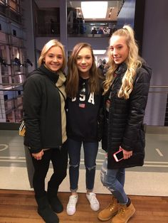 "abbyleefrost: ""Maddie at the Nike store in New York today """