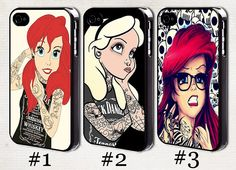 Tattooed Ariel iPhone 5 / 5s / 5c case, Punk Alice in Wonderland Tattoo iPhone 4s case, iPhone 4 cover, iPod Touch 5 cover on Etsy, $6.80