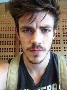 He has a mustache?! Oh my