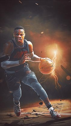 Russell Westbrook wallpaper (With images) Nba basketball