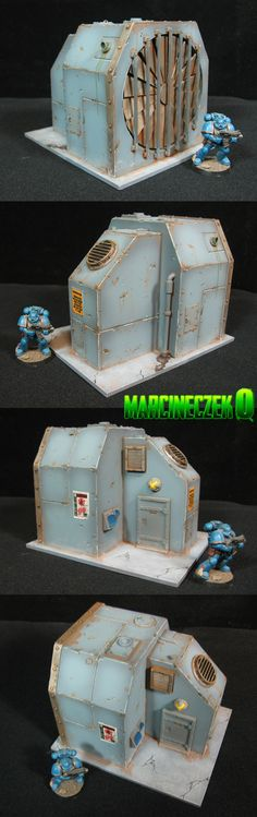Industrial Building for Warhammer 40K, Infinity terrain