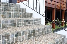 Stairs of Mosaic tile