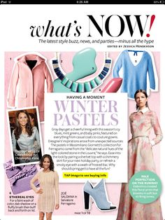 Get ahead with the new winter pastels trend #aw13 #newtrends #pastels