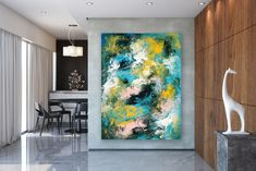 Large Abstract Canvas Art,Extra Large Abstract Canvas Art,painting on canvas,modern abstract,extra large wall art FY0086