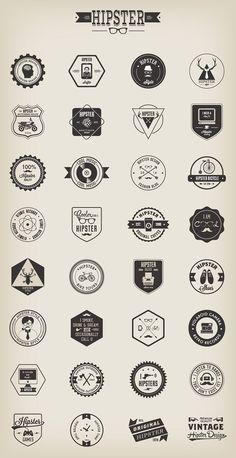 Free Vector Hipster Badges