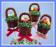 Easter Basket cake pops...with instructions on how to make them!!!