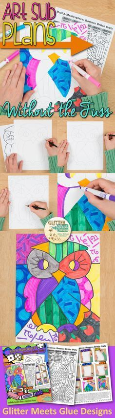 Back to school projects for kids don't have to be so time consuming. Download fun, engaging project ideas instantly. Check out this Romero Britto Pop Art Owl project. It's perfect for the first day of school and is a great bulletin board idea, too!