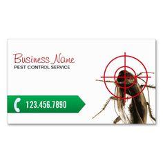 Pest Control Professional Bug Killer Standard Business Card