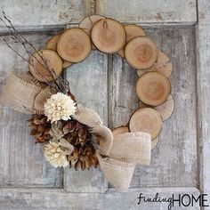 A birch bark wreath - rustic chic perfection for the holidays.