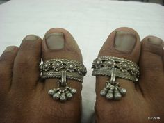 Vintage toe ring antique tribal old silver big toe ring pair traditional jewelry Silver Jewellery Indian, Tribal Jewelry, Silver Jewelry, Silver Toe Rings, Silver Anklets, Silver Payal, Antique Rings, Antique Jewelry, Antique Silver