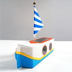 A quick and simple boat craft to inspire stories and | http://toyspark.blogspot.com