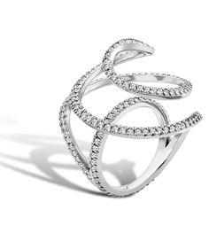 'Neptunea Ring' in platinum and diamonds. By Zoe Harding.