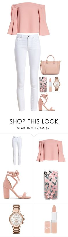 """""""Unforgettable"""" by quonton ❤ liked on Polyvore featuring Barbour, Topshop, Raye, Casetify, Michael Kors and Rimmel"""