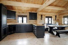 Beautiful kitchen backsplash with dark cabinets decor ideas (74) #LogHomeDecorating,