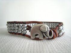 Leather Wrap Bracelet by TrulyAmberJewelry on Etsy