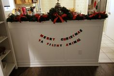 DIY Felt Letter Garland Tutorial - Charleston Crafted - Merry Christmas Ya Filthy Animal