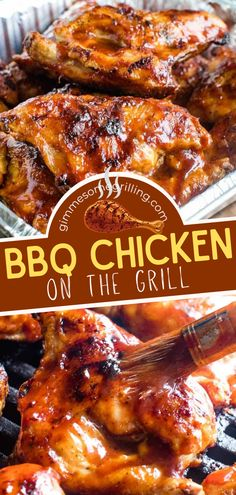 An easy grilling recipe for all your entertaining needs! Thanks to a few tips and tricks, you can get that best chicken that is deliciously juicy with a savory BBQ sauce. Get ready to dig in with your hands — it is finger-licking good! Enjoy your spring grilling! Summer Grilling Recipes, Grilling Ideas, Spring Recipes, Chicken Lunch Recipes, Grilled Chicken Recipes, Dinner Recipes, Easy Family Meals, Quick Easy Meals, Easy Bbq Chicken